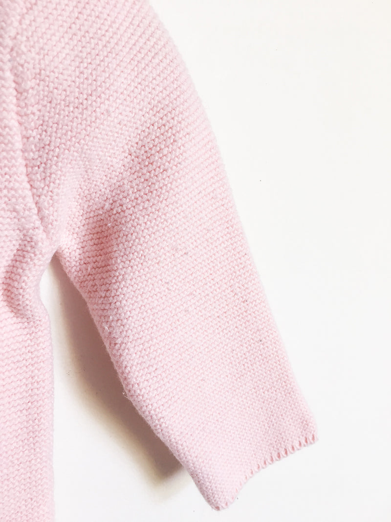 Carrément Beau Sweaters 3m / Gently Used Re-Cycle Pink Knit Baby Cardigan