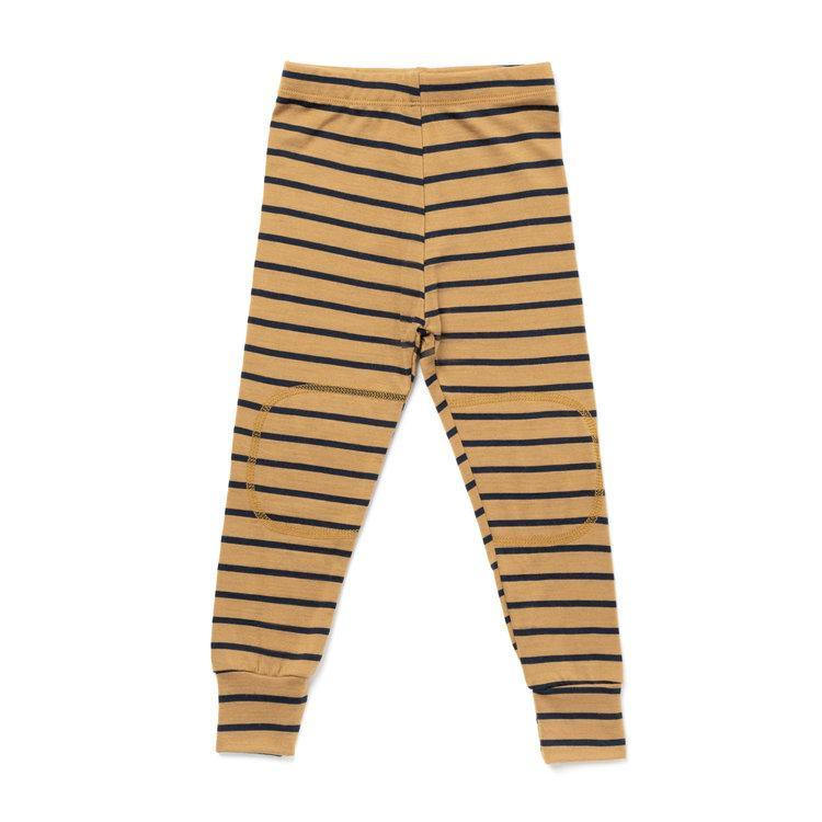 Chasing Windmills Long Underwear Thermal Long Johns - Dijon with Navy Stripe