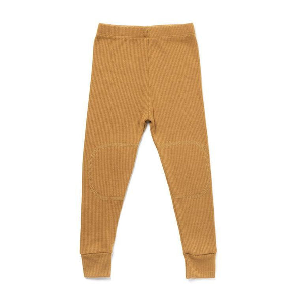 Chasing Windmills Long Underwear Thermal Long Johns - Harvest Gold Ribbed Solid