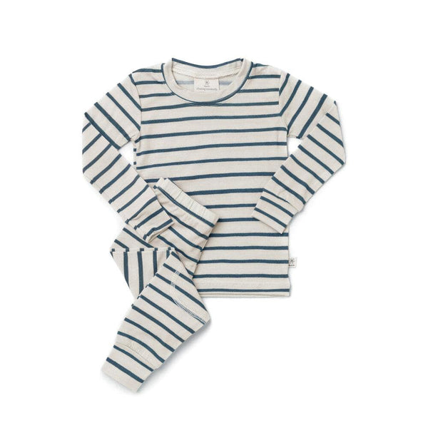 Chasing Windmills Long Underwear Thermal Long Johns - Marine Stripe