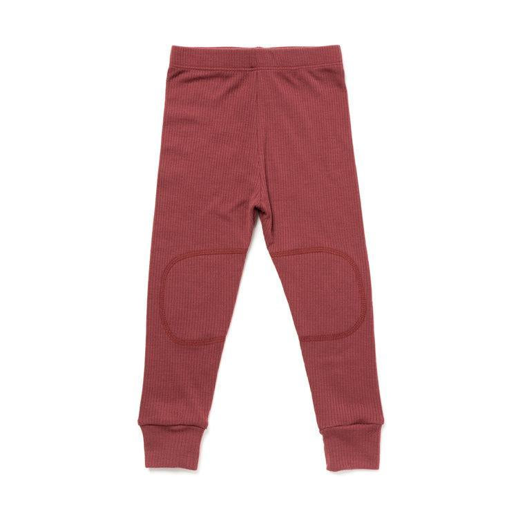 Chasing Windmills Long Underwear Thermal Long Johns - Mulberry Ribbed Solid