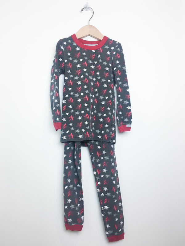 Coccoli Pyjamas 7y / Gently Used Re-Cycle Black Pyjama with Red, White and Grey Stars