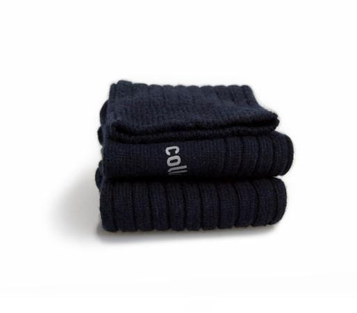 Collegien Socks Chamois Wool and Cashmere Ribbed Socks - Starry Blue Nights