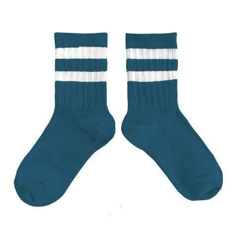 Collegien Socks Nico Ribbed Sports Socks - Peacock