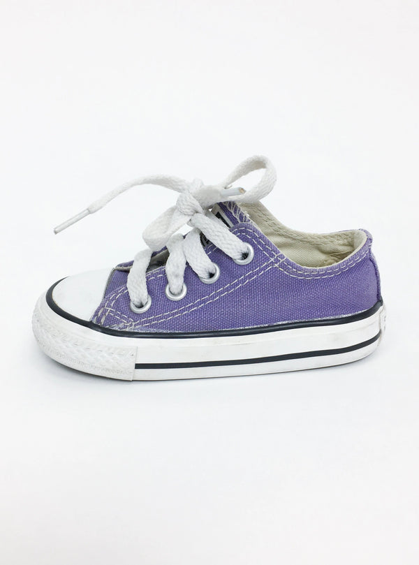 Converse Shoes US 5 / Gently Used Re-Cycle Purple Converse Sneaker