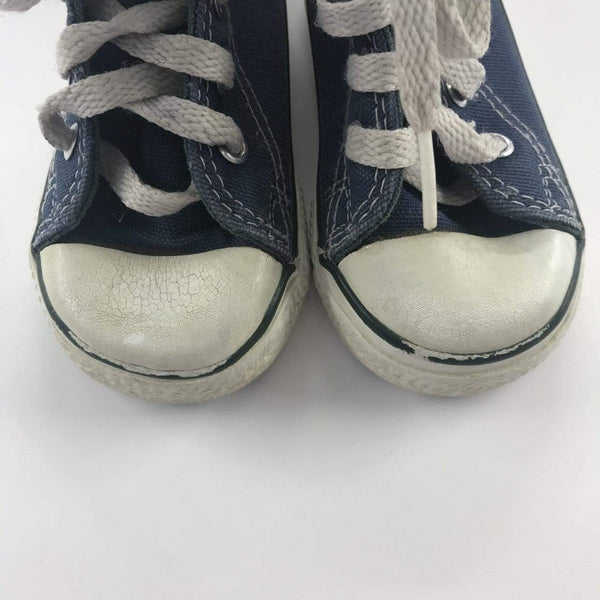 Converse Shoes US 5 / Preloved Re-Cycle Solid Blue High-Top Sneakers