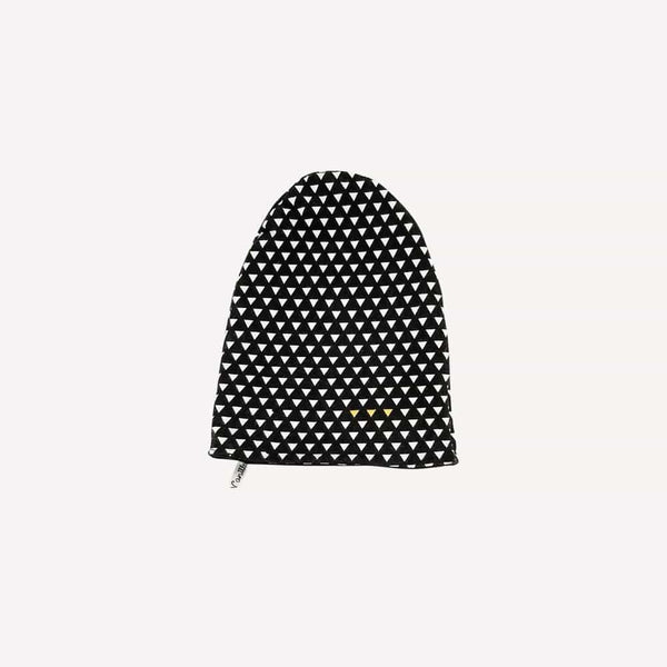 Coton vanille Winter Acc 1-2y / Preloved Re-Cycle Patterned Black Beanie