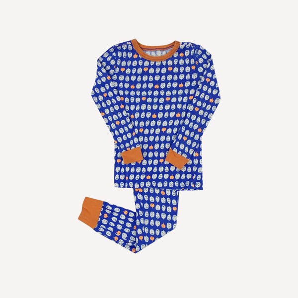 Crewcuts 2 Piece 7y / Like New Re-Cycle Blue 2 Piece Pumpkin Pyjama