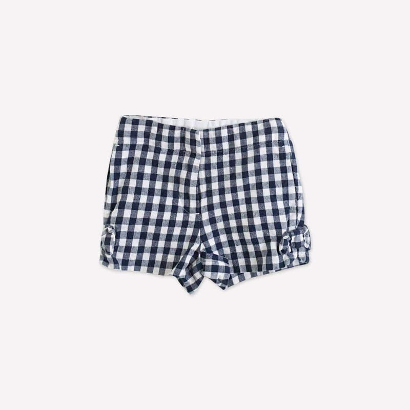 Crewcuts Shorts 9-12m / Like New Re-Cycle Checkered Blue Shorts
