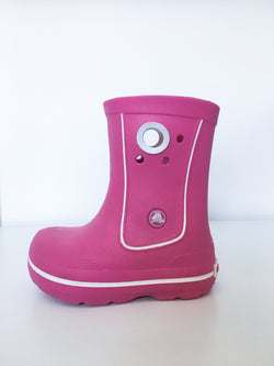 Crocs Accessories 8-9 / Gently Used Re-Cycle Pink Rain Boot