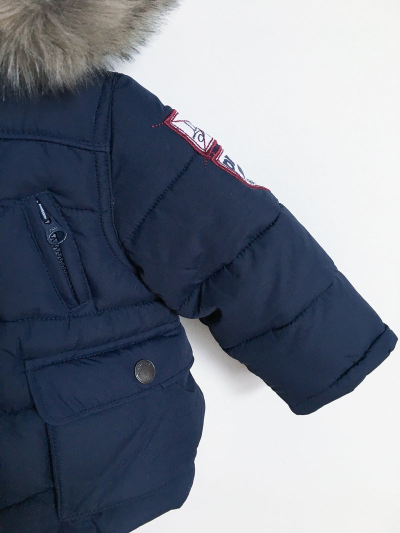 Cyrillus Outerwear 3-6m / Gently Used Re-Cycle Navy Blue Puffer Jacket
