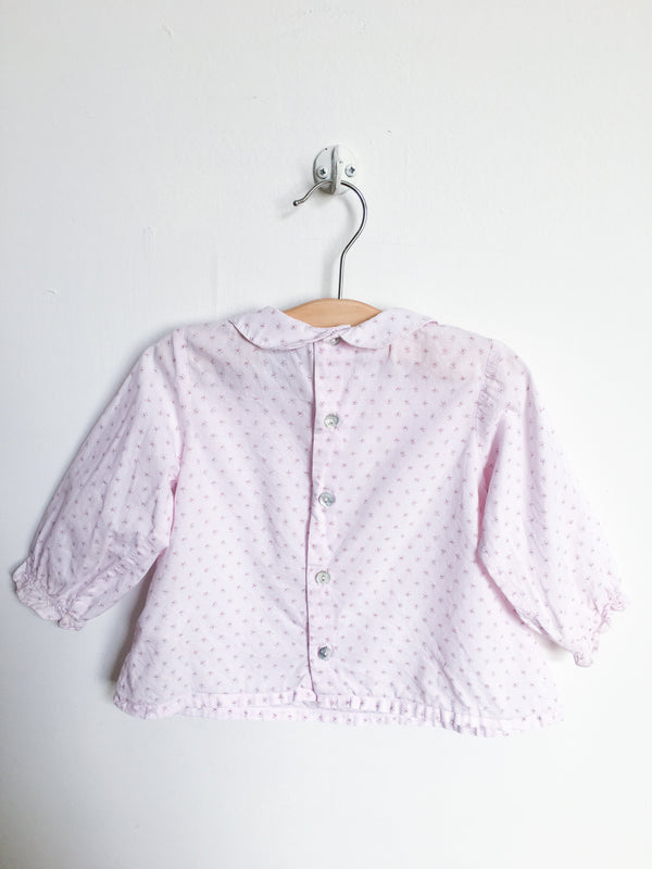 Cyrillus Shirts 12m / Gently Used Re-Cycle Pink Flower Print Blouse
