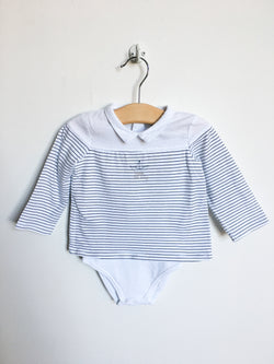 Cyrillus Tops + Bodysuits 9m / Gently Used Re-Cycle Little Navy Bodysuit