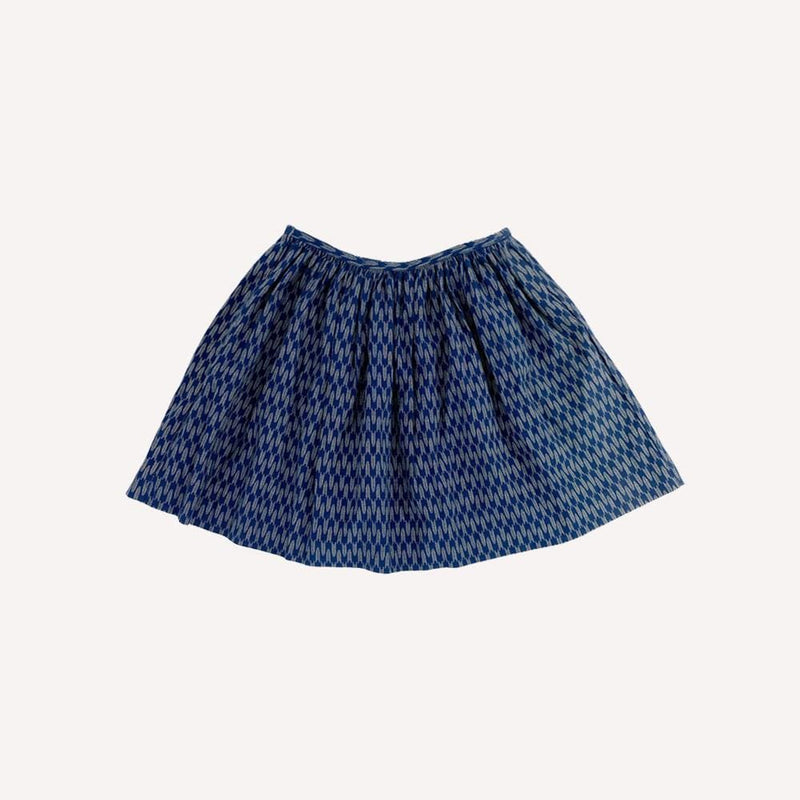 Dagmar Daley Skirt 8y / New Re-Cycle Patterned Blue Skirt