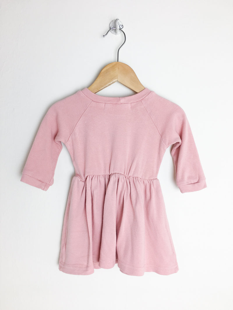 Dog & Daisy Dress 0-6m / Gently Used Re-Cycle Pink Baby Dress