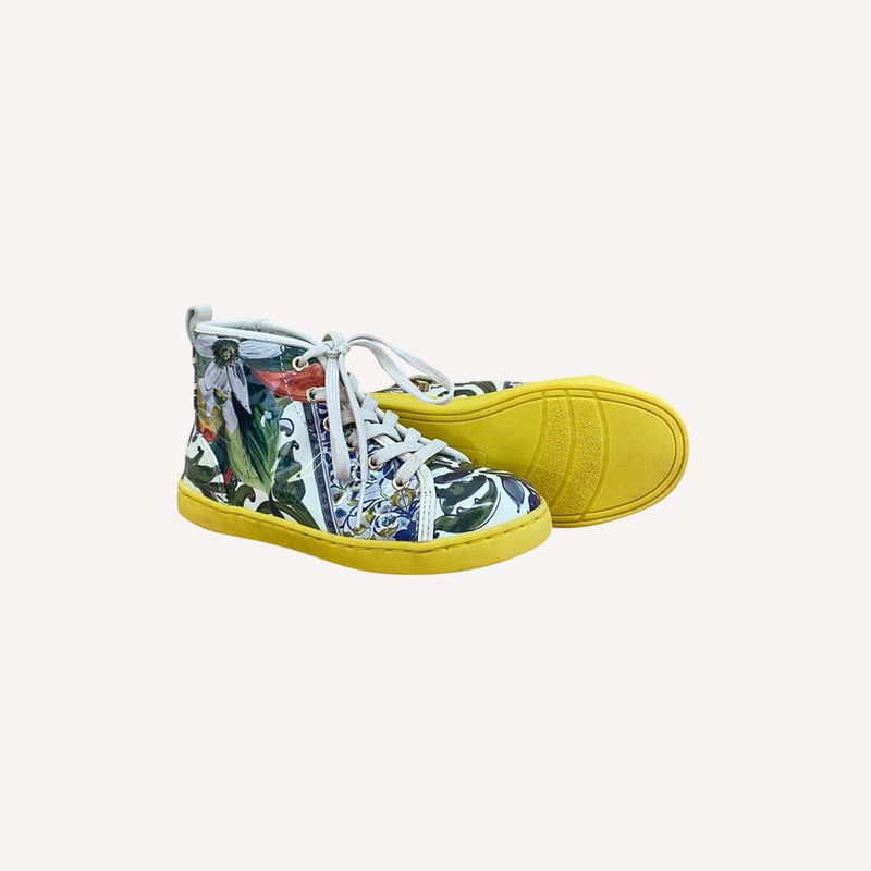 Dolce & Gabbana Sneakers US 10.5 / Preloved Re-Cycle Patterned Multi Colored Sneakers