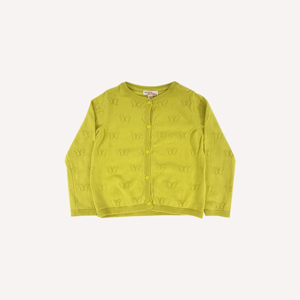 Du pareil... au même Cardigan 3T / Like New Re-Cycle Solid Yellow Cardigan