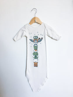 Electrik Kidz Pyjamas 0-3m / Gently Used Re-Cycle Animal Totem Knotted Sleep-sack