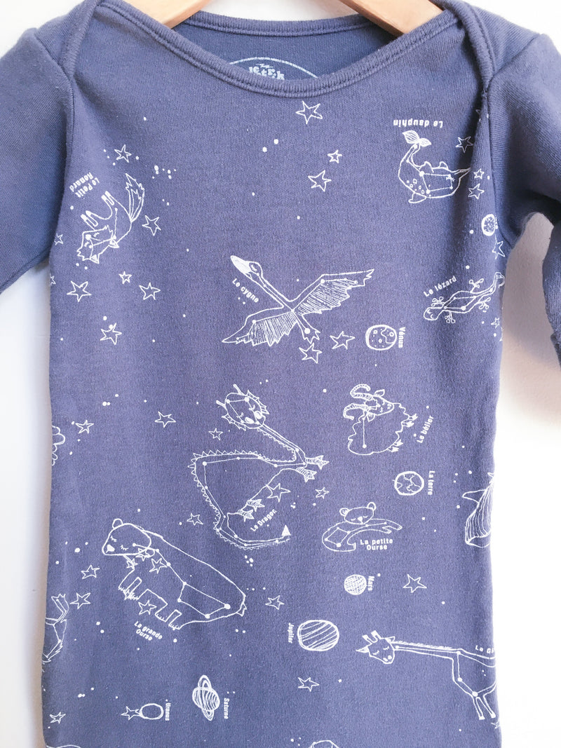 Electrik Kidz Pyjamas 3-6m / Gently Used Re-Cycle Animal Constellation Knotted Sleep-sack