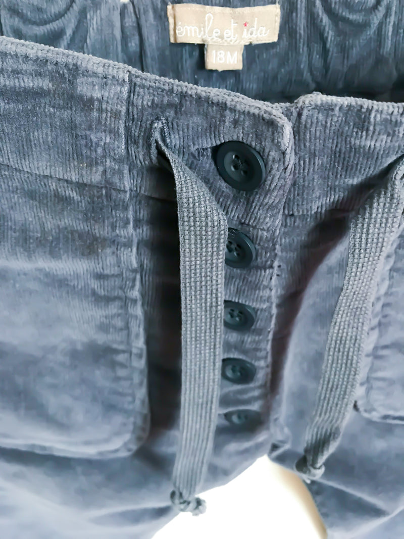 Émile et ida Bottoms 18m / Gently Used Re-Cycle Blue Corduroy Pants
