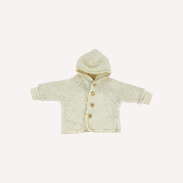 Engel Cardigan 0-3m / Like New Re-Cycle Cream Hooded Wool Cardigan