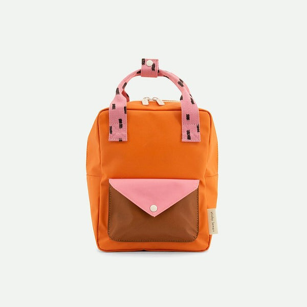 Small Backpack Sprinkles Envelope- Special Edition - Bubbly Pink + Carrot Orange + Syrup Brown