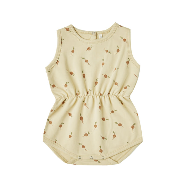Cinch Printed Playsuit - Butter/Radish