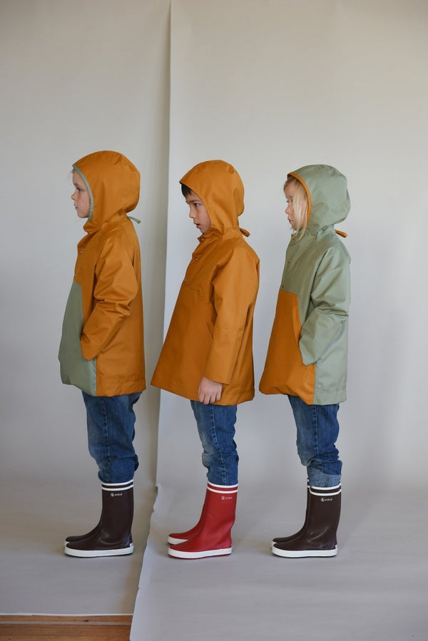 Faire Child Raincoat Anorak Raincoat - Acorn/Balsam