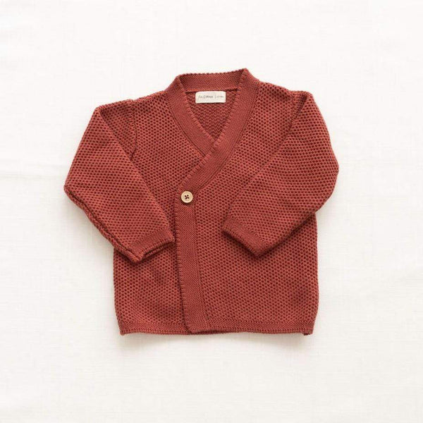 Fin & Vince Cardigan Knitted Wrap Cardigan - Gingerbread