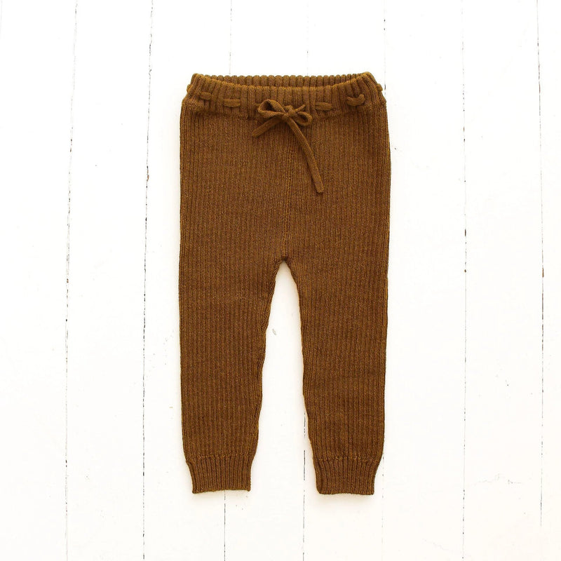 Fin & Vince Leggings Ribbed Alpaca Leggings - Honeycomb