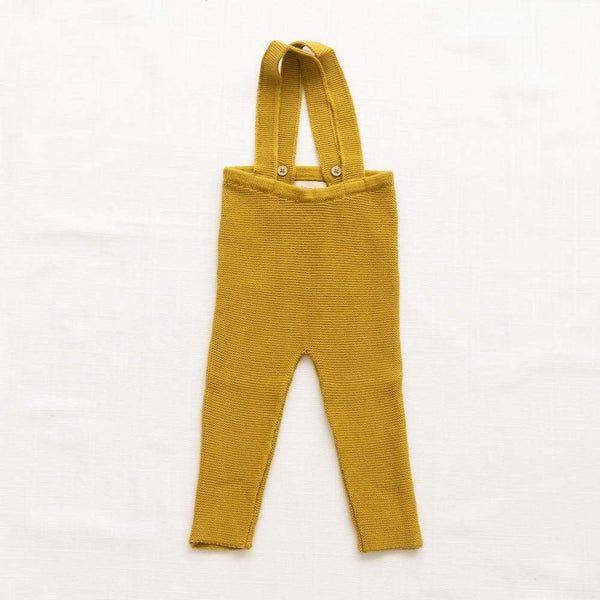 Fin & Vince Pants Knitted Suspender Pants - Chartreuse