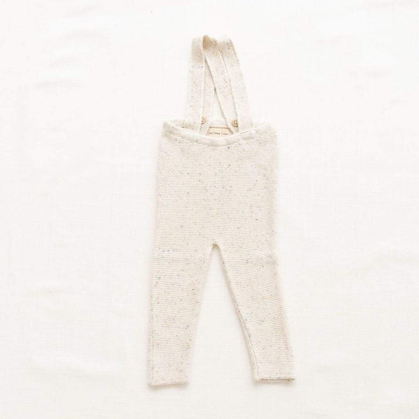 Fin & Vince Pants Knitted Suspender Pants - Confetti