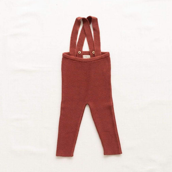 Fin & Vince Pants Knitted Suspender Pants - Gingerbread