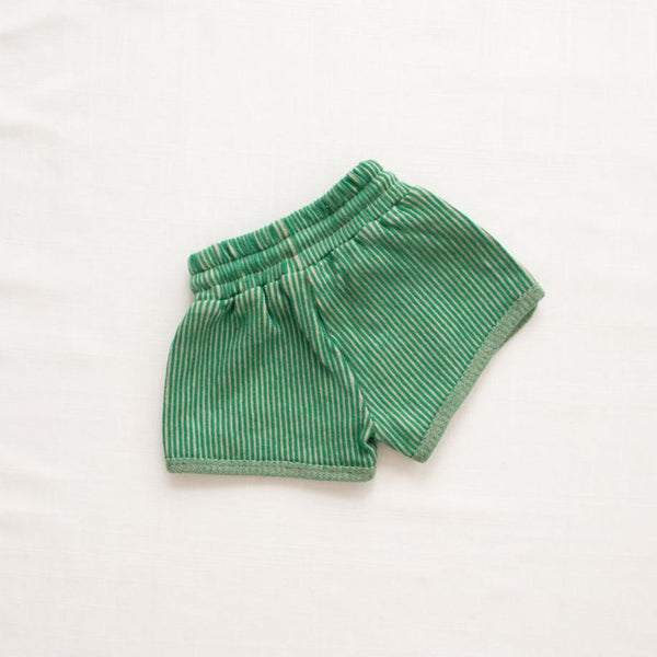 Fin & Vince Shorts Ribbed Terry Trackies - Emerald