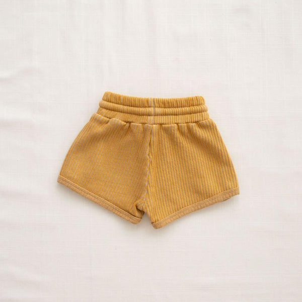 Fin & Vince Shorts Ribbed Terry Trackies - Goldenrod