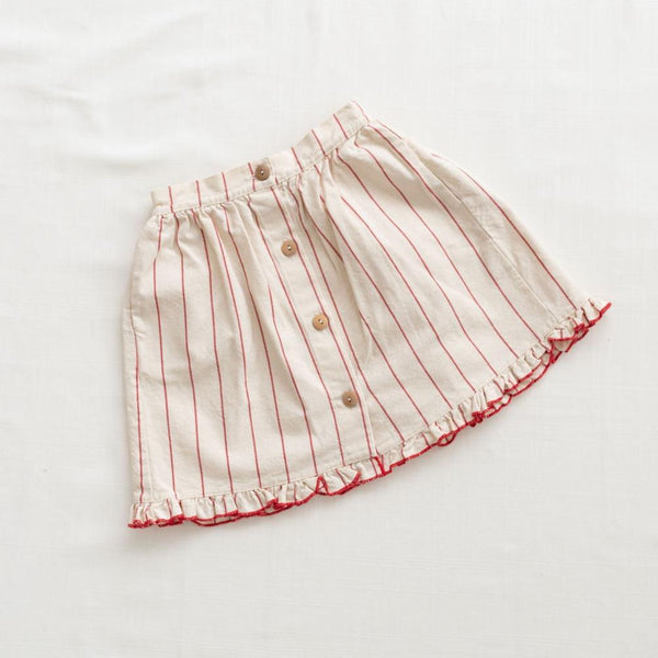 Fin & Vince Skirt Midi Skirt - Red Stripe