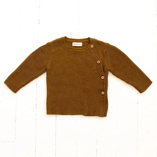 Fin & Vince Sweaters Ribbed Alpaca Sweater - Honeycomb