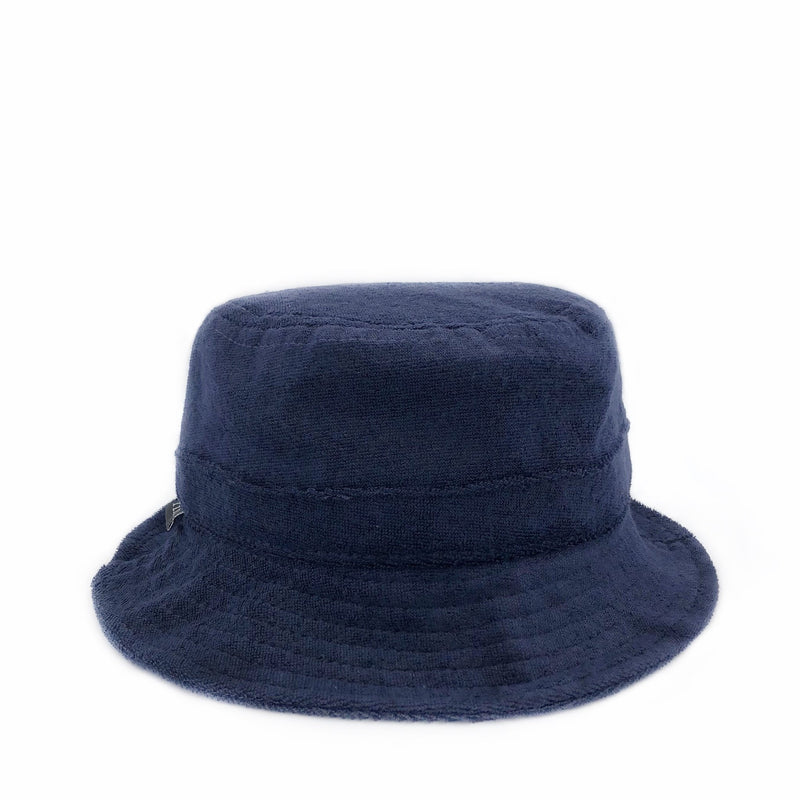 Fini Hat 6-12m Terry Bucket Hat - Navy Blue