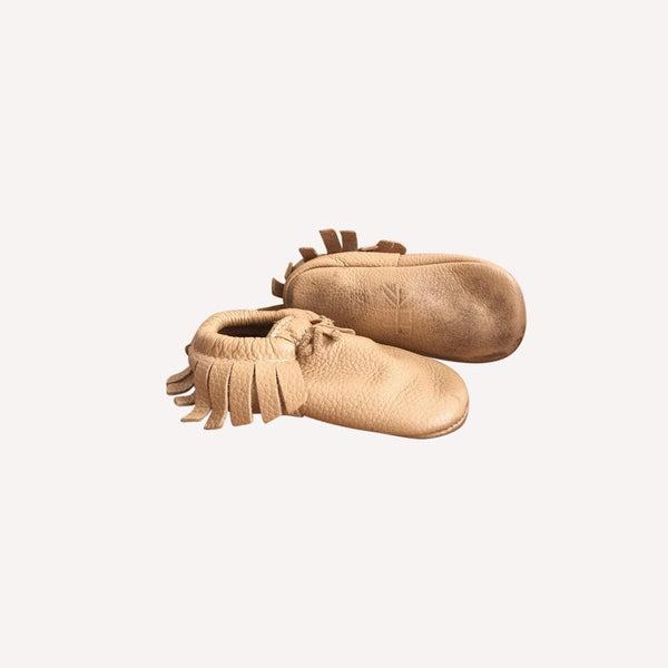 Freshly Picked Moccasin US 6 / Preloved Re-Cycle Solid Beige Moccasins