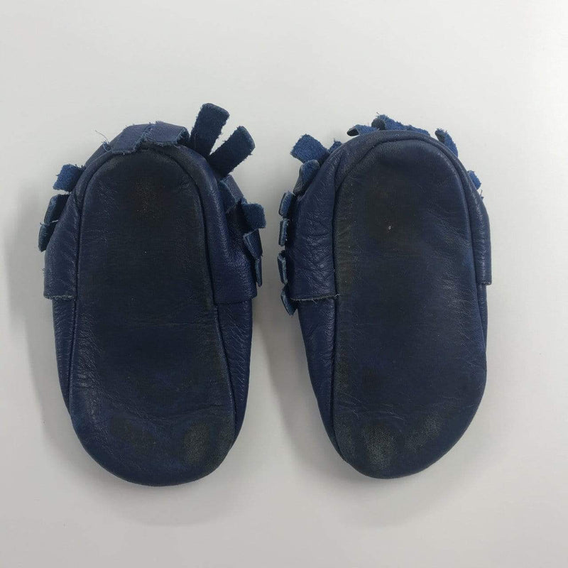 Freshly Picked Moccasin US 6 / Well Loved Re-Cycle Solid Blue Moccasin