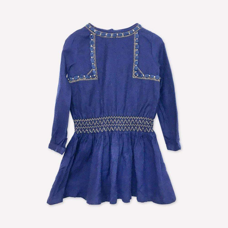 Galleries Lafayette Dress 3y / Like New Re-Cycle Solid Blue Dress