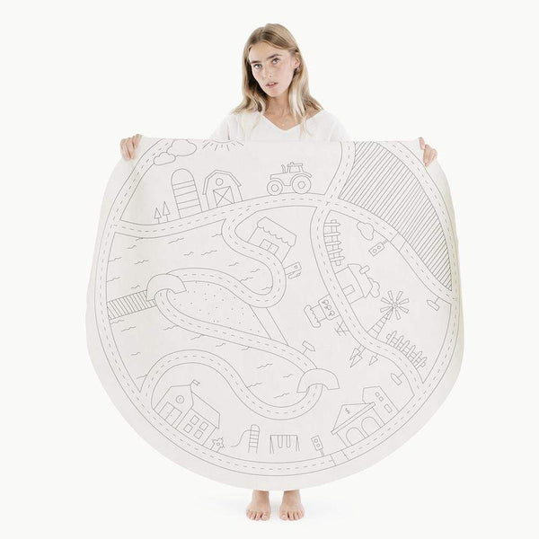 Gathre Mat Blanc Homestead Midi Circle Mat - Prints