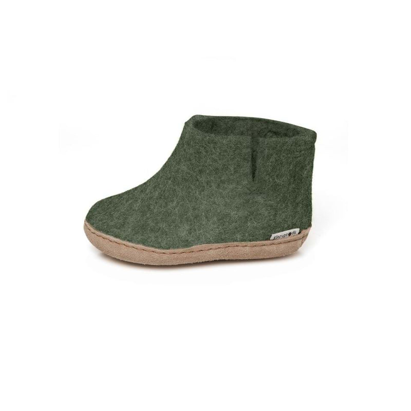 Glerups Slippers Wool Low Boot Slippers - Forest