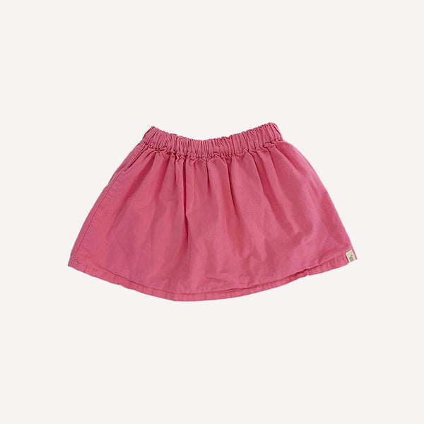 Go Gently Baby Skirt 12-18m / Preloved Re-Cycle Solid Pink Skirt