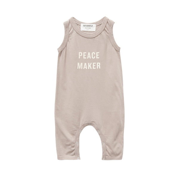 Go Gently Nation Rompers Peace Maker Long Romper - Sandstone