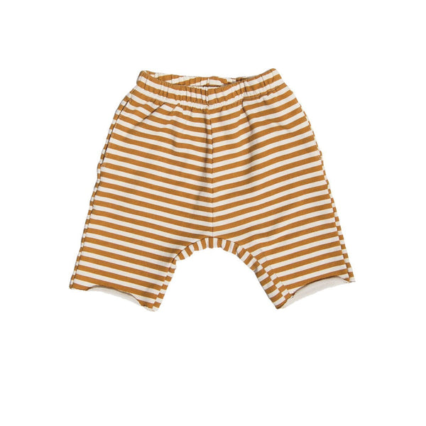 Go Gently Nation Shorts 6-12m Golden Stripe Athletic Short