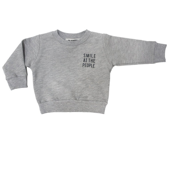 "Go Gently Nation Sweaters 18-24m ""Smile at the People"" Crewneck - 18-24m"