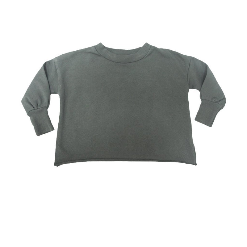 Go Gently Nation Sweaters 4y Puff Sleeve Sweatshirt - Military