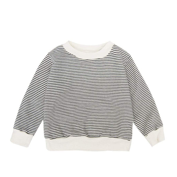 Go Gently Nation Sweatshirt People for Peace Baby Crewneck - Navy/Natural Stripe