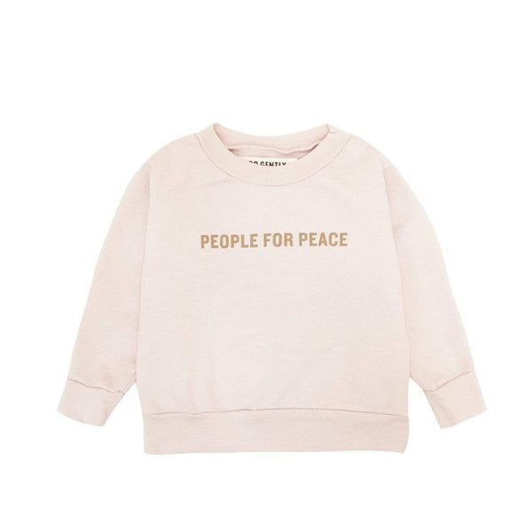 Go Gently Nation Sweatshirt People for Peace Crewneck - Pink Tint
